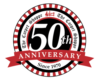 50th-Anniversary-Seal | The Carpet Shoppe