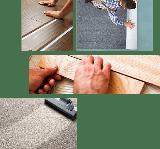 installation team collage | The Carpet Shoppe
