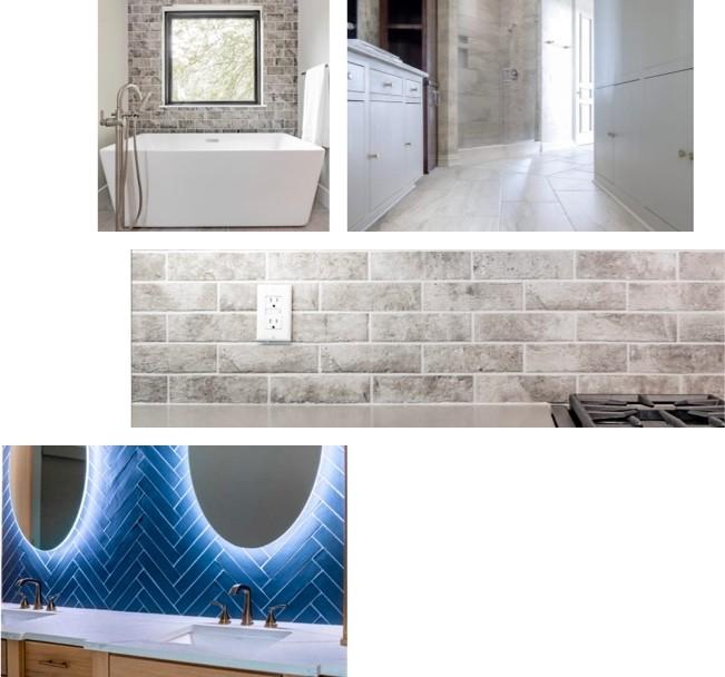 tile installation collage | The Carpet Shoppe